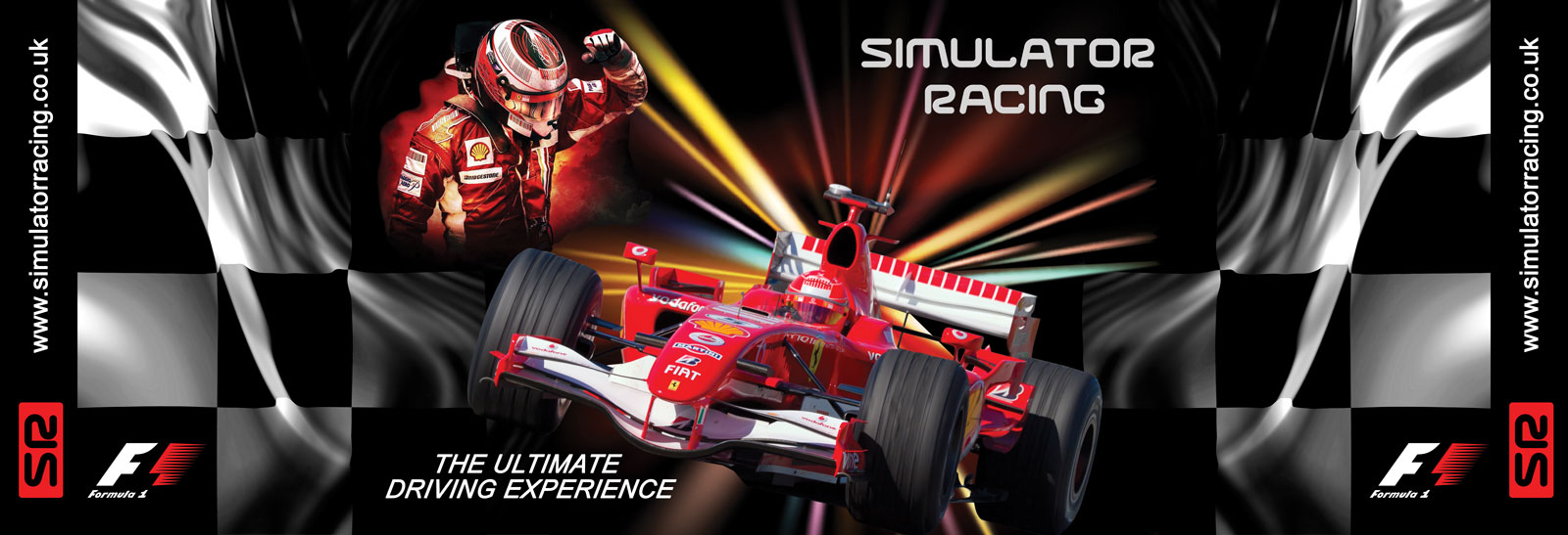 F1 Simulator Racing 'The Ultimate Driving Experience' 20' Banner