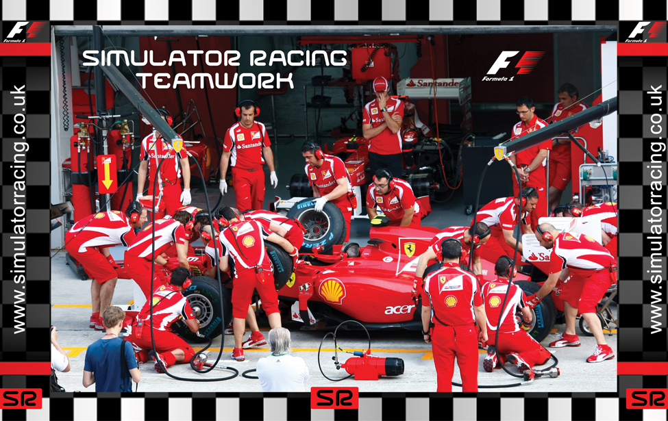 F1 Pit Stop 'Teamwork' 10' Backdrop