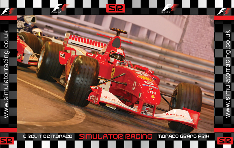 F1 Monaco Grand Prix Ferrari 10' Backdrop