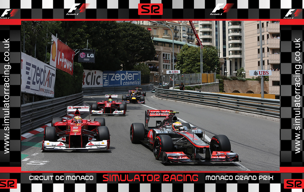 F1 Monaco Grand Prix Hamilton & Alonso 10' Backdrop