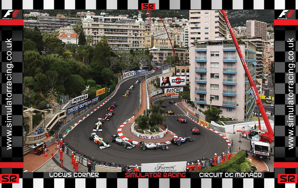 F1 Monaco Grand Prix Loews Corner 10' Backdrop