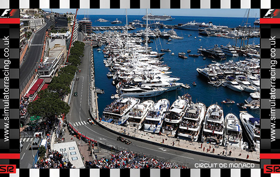 F1 Monaco Grand Prix Marina 10' Backdrop
