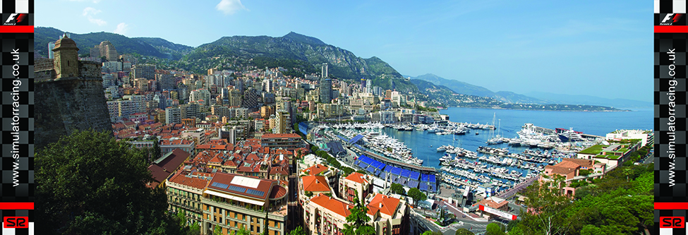 F1 Monaco Grand Prix Monaco Skyline 20' Backdrop