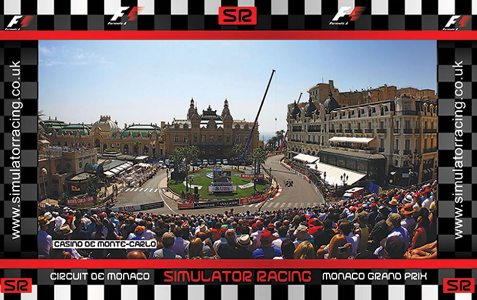 F1 Monaco Grand Prix Casino Gallery 10' Backdrop
